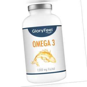 Omega 3 Fischöl Kapseln 1000 mg 120mg EPA 180mg DHA Fettsäuren 400 Stk. Fisch Öl