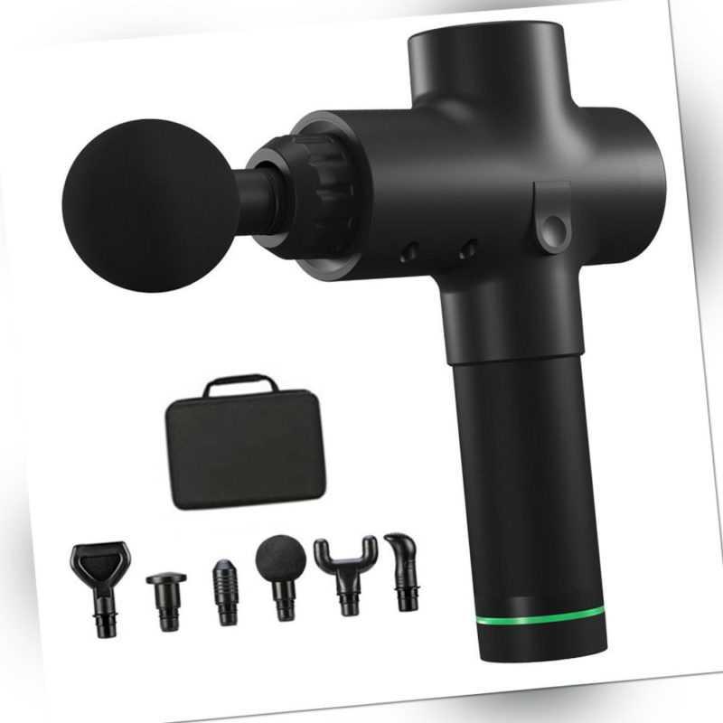 Elektrische Massage Gun LCD Massagegeräte Muskel Massagepistole Mit 6 Köpfe DHL