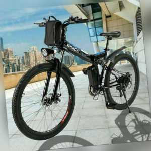 350W Elektrofahrrad Klapprad E-Bike Elektro Mountainbike,26 Zoll Fahrrad Pedelec