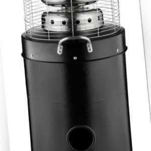 Terassenheizer Gasheizer 12,5kW Heatmaster Heizstrahler 1209B Edelstahl /schwarz