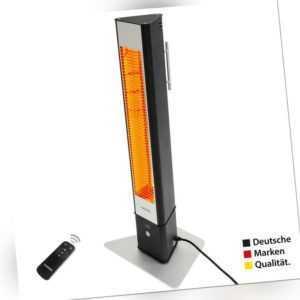 VASNER HeatTower Standheizstrahler Terrasse Heizstrahler Infrarot IP65 Schwarz
