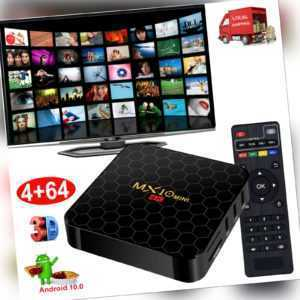 64GB MX10 MINI Android 10.0 OS TV BOX 5G WLAN BT 4K Filme Media Streamer 2021