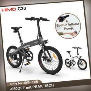 HIMO C20 Klappfahrrad Elektro E bike Klapprad Faltrad Leicht 20'' 25km/h