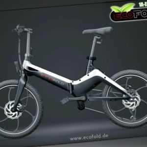 "ECOFOLD STS 9 E-Bike 20"" sportliche Design Magnesiumrahmen Klapprad 36V 10Ah NEU"