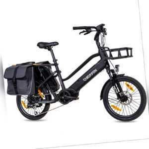 20 Zoll E-Bike E-Lastenrad CHRISSON eCARGO 749Wh Bafang-Mittelmotor 8G Shimano