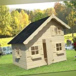 Palmako Kinderspielhaus Tom 3,8 m² Kinderhaus Schlafboden Spielhaus 220x180cm