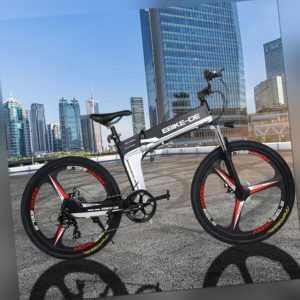 26 Zoll Elektrofahrrad Mountainbike E-bike 250W 36V Shimano Pedelec Schwarz DHL