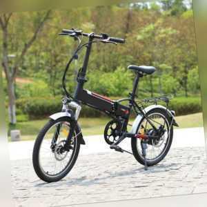 Elektrofahrrad 20 Zoll E-bike Mini Klapprad Citybike 7-Gang Fahrrad Pedelec 250W