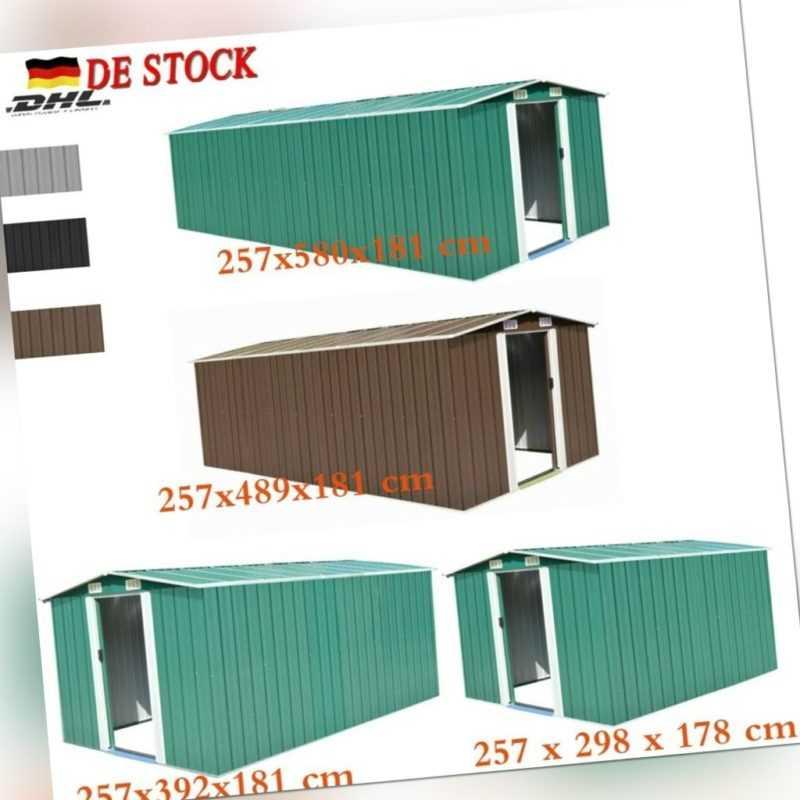 Gerätehaus Metall  Geräteschuppen Gartenhaus Garten Schuppen Lager 4 Größe