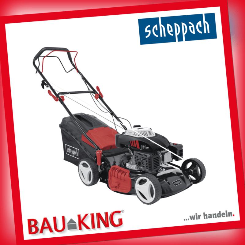 Scheppach Benzin Rasenmäher MS161-46 55 L Korb 4.1PS 4-Takt 161 cm³