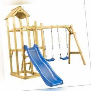 Spielturm mit Rutsche Schaukel Leiter Klettergerüst Spielhaus Kletterturm Garten