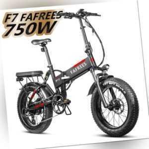 "48V E-Bike FAFREES F7 Plus 20"" Faltrad Fat Tire 750W Motor 7-Gang Elektrofahrrad"