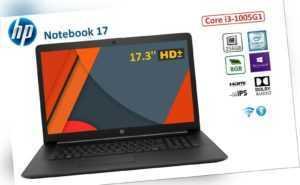 HP Notebook 17, 17.3'' HD+, Core i3-1005G1, 8 GB RAM, 256 GB SSD, Win 10 Pro