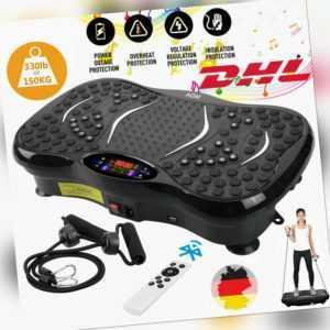 3D Vibrationsplatte Ganzkörper Trainingsgerät Fitness Platte mit Bluetooth