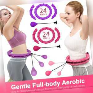 24 Teile Smart Hula Hoop Reifen Massage Bauchtrainer Hoola Hoops Fitness Band