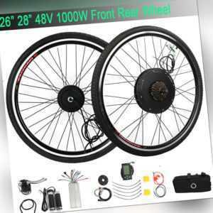 26'' 28'' 1000W 1500W E Bike Umbausatz Elektrofahrrad Ebike Motor Kit Conversion
