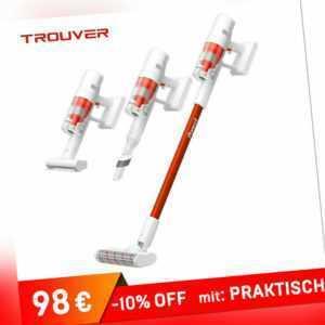 TROUVER Power 11 Handstaubsauger LED Screen Akkusauger Beutell 20KPa 100.000 rpm