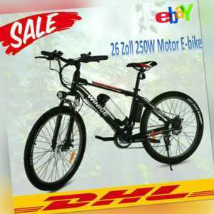E-bike 26Zoll Elektrofahrrad Mountainbike Elektrisches E-Fahrrad Shimano Pedelec