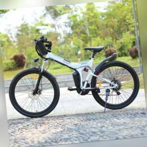26 Zoll Elektrofahrrad Mountainbike Klapprad City E-Bike Pedelec Shimano 21Gang.