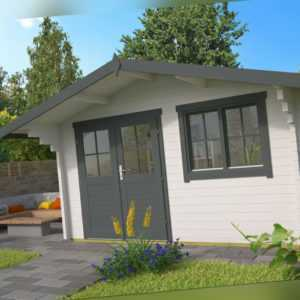 58 mm Gartenhaus ISO 400x300 cm Blockhaus Holzhaus Gerätehaus Schuppen Holzhütte
