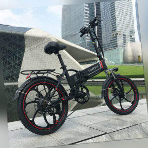 20 Zoll Klappbares Elektrofahrrad Power Assist E-Bike Scooter 350W Motor 35km/h