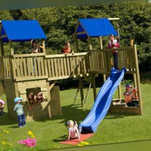 Kinderspielhaus Multiplay Big Jim Kinderhaus Spielanlage Spielhaus Holz Haus NEU