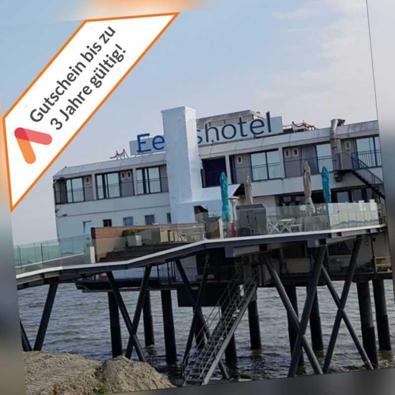 Kurzurlaub Nordsee Groningen Hotel auf Stelzen im Meer 3 Tage Gutschein 2 Pers.