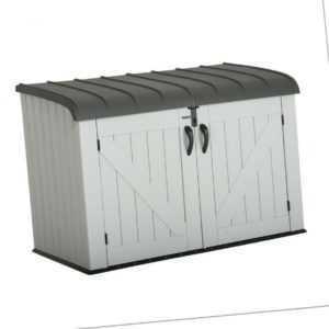 Mülltonnenbox Gerätebox XXL hellgrau Mülltonnenverkleidung Gartenbox Lifetime