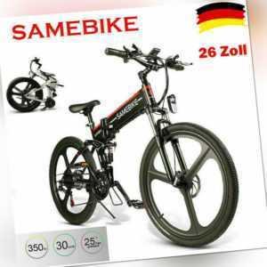 26 zoll Samebike Elektrofahrrad Klappfahrrad E-Bike 350W 500W MTB Moped Bicycle