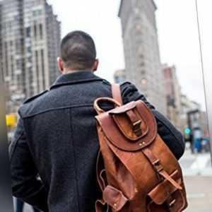 Echt Leder Bag Rucksack umhängetasche  Backpack leather tasche beutel jasolcraft
