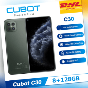 Cubot C30 Android 10 8GB+128GB 48MP NFC Smartphone Octa-core Handy Ohne Vertrag