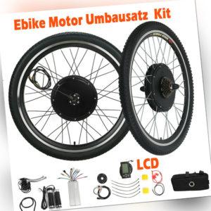 26'' 28'' 1000W 1500W E Bike Umbausatz Elektrofahrrad Motor Conversion 48V Kit