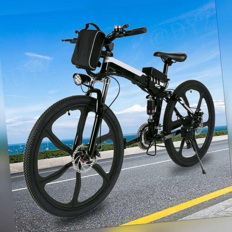 Faltbares Elektrofahrrad 26 Zoll E-Bike Klapprad Citybike 250W Motor 36V Pedelec
