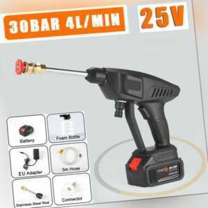 Hochdruckreiniger Akku Mobiler Druckreiniger Spritzpistole 25 V /200W Tragbar
