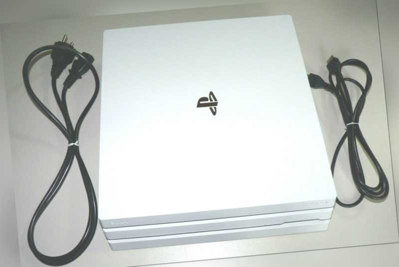 SONY PLAYSTATION 4 PRO KONSOLE WEISS 1TB EDITION + KABEL + HDMI PS4 1 TB white