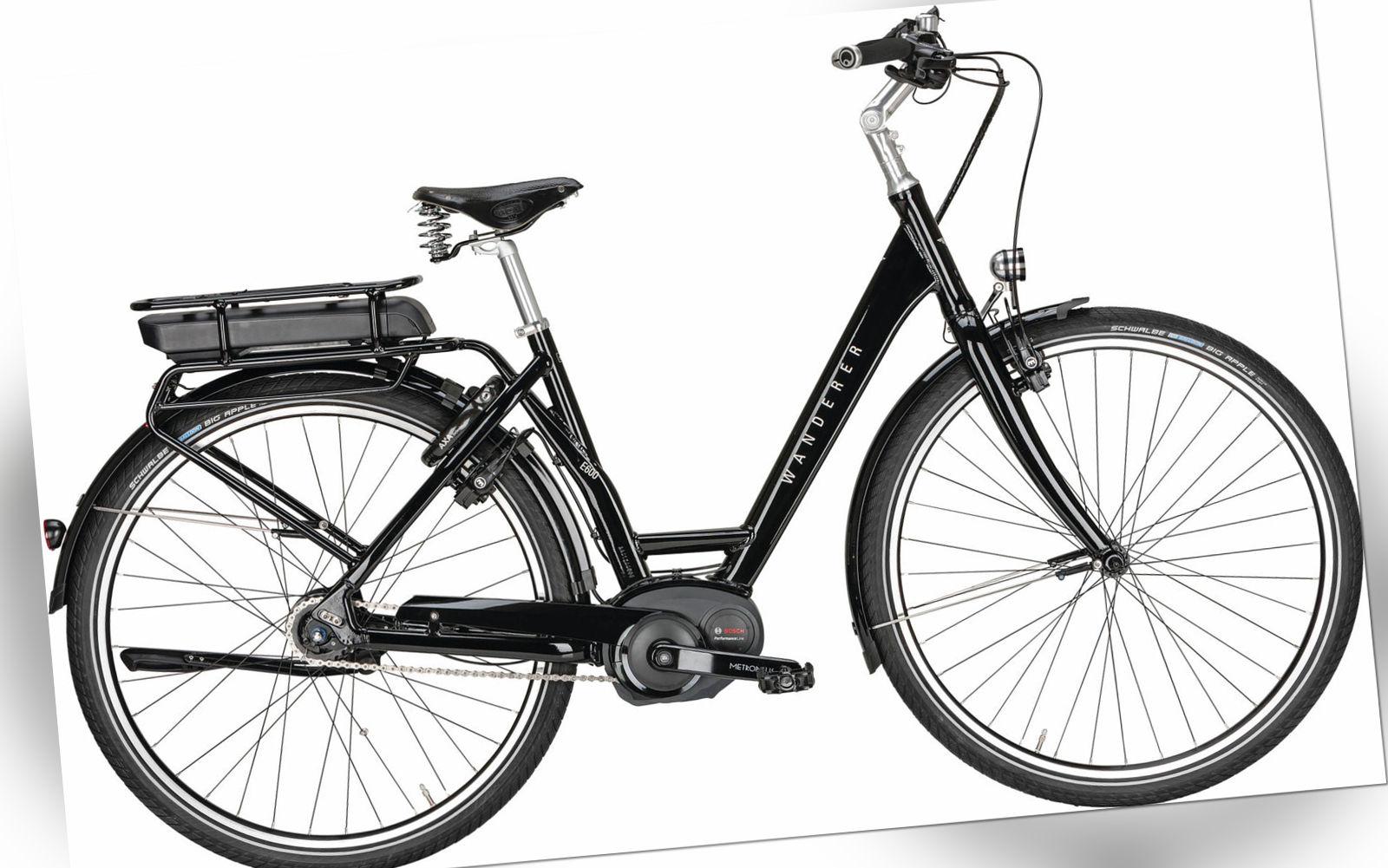 Wanderer E-Bike E600 PERFORMANCE Unisex 28 Zoll 500Wh Tiefeinstieg 8 G. Nabensch