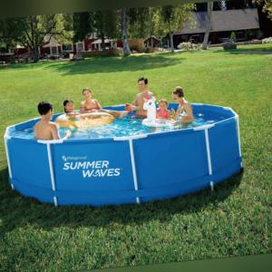 SUMMER WAVES Swimmingpool Familienpool 366x84cm - mit Abdeckplane & Filter / NEU