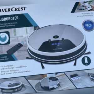 SilverCrest SSRA1 Saugroboter inkl. App Staubsauger Bodenstaubsauger Alexa Li-Io