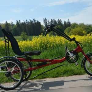 Liegedreirad Therapiedreirad Kette Dreirad für Erwachsene mit Elektroantrieb