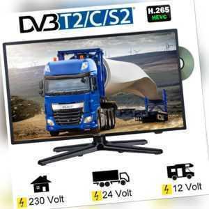Reflexion LDDW220 LED TV Fernseher 22 Zoll SAT DVB-S2/C/T2 DVD 12 Volt 24V 230V