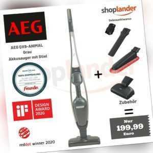 AEG QX9-1-ANIM I FLEXIBILITY 2in1 Akku-Hand-und Stielstaubsauger +Zubehör, leise