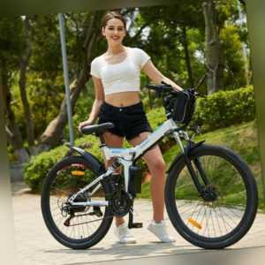 Klapprad Pedelec 26 Zoll Elektrofahrrad Faltbar E-Bike Faltrad Fahrrad 36V AKKU