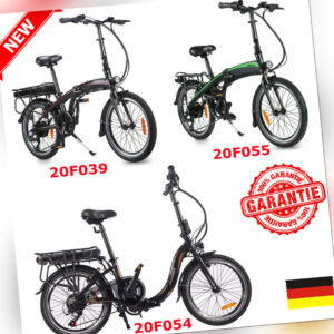 20 Zoll Elektrofahrrad eBike Klappbar Fahrrad E-Citybike Akku 36V 250W 7 Gänge