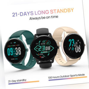 Für Android IOS Smartwatch IP68 Sportuhr Armband Blutdruck Fitness Tracker CR1