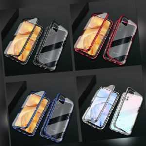Xiaomi Redmi Note 8 Pro 360° Magnet Case Hülle Metall Tasche doppelt Schutz-Glas