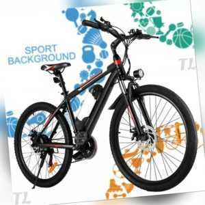 26''Elektrofahrrad E-Citybike E-Bike Mountainbike 250/350W Motor 21 Gang AKKU DE