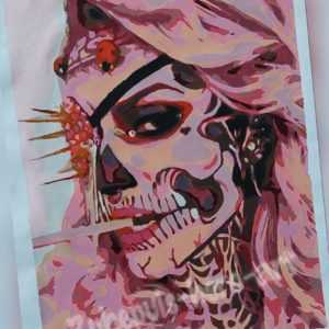 "Malen nach Zahlen - Pink Lady - Königin "" La Catrina "" Skull - Tattoo Frauen"