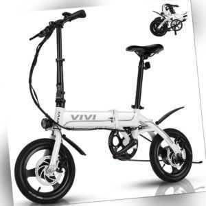 """350W Elektrofahrrad 14"""" Pedelec e Mountain bike Klappbar eCity bike Herren/Damen"""