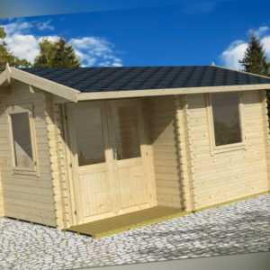 Gartenhaus Gerätehaus BERKSHIRE 43 400x300 cm; ISO; inkl. Boden; 44mm Wandstärke