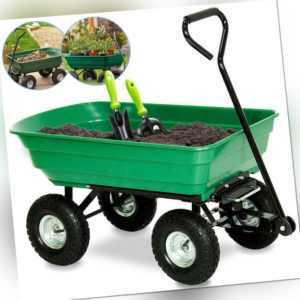 Handwagen Gartenwagen Stabile Bollerwagen 300kg Außenschubkarre Transportwagen